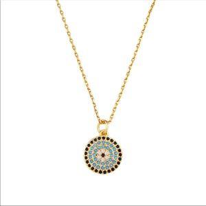 925 Dainty Pavé Evil Eye Necklace